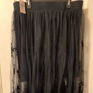 NWT Maxi lace skirt